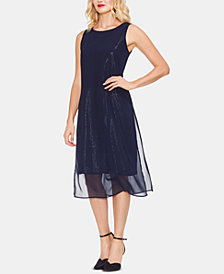 Vince Camuto Chiffon Embellished Dress