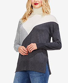 Vince Camuto Colorblocked Turtleneck Sweater