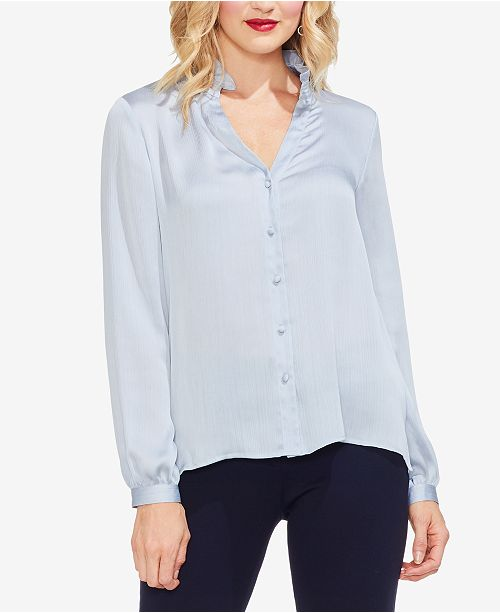 74141f47bf0882 Vince Camuto Ruffle-Collar Blouse & Reviews - Tops - Women - Macy's