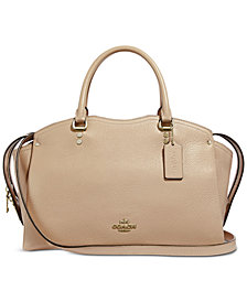 COACH Grain Leather Drew Satchel