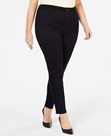 Seven7 Jeans Plus Size Two-Tone Skinny Jeans
