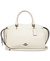 cd9b2056f029 COACH Drew Satchel in Pebble Leather with Snakeskin Detail