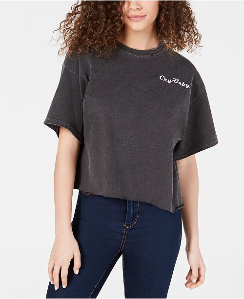 True Vintage Cry-Baby Graphic Cropped T-Shirt