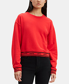 Levi's® Cropped Fleece Logo Sweatshirt