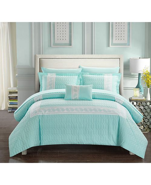 Chic Home Titian 8-Pc. Bed In a Bag Comforter Sets