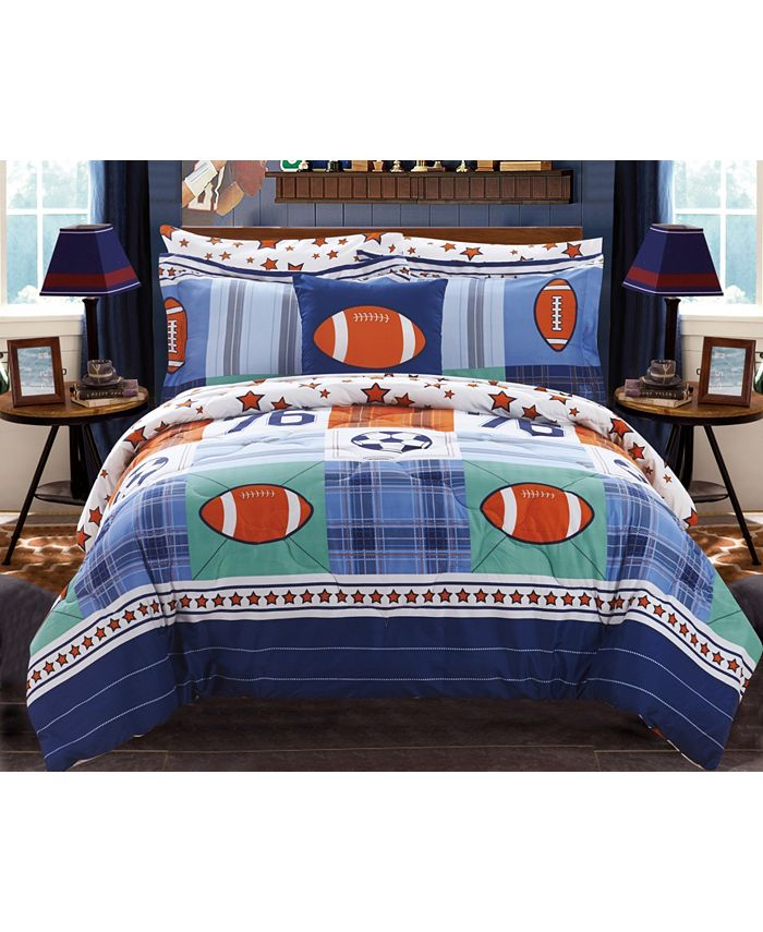 Chic Home - All Star 8-Pc. Bed In a Bag Comforter Sets