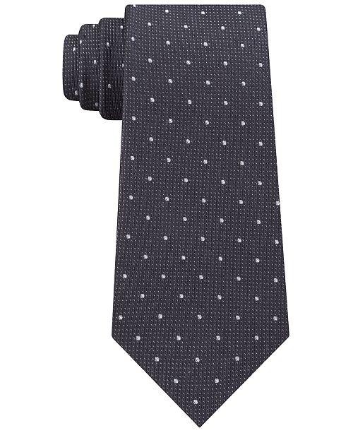 601a6cd7c15e Calvin Klein Men's Reflective Dot Slim Tie & Reviews - Ties & Pocket ...
