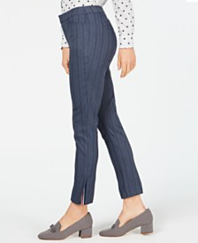 Charter Club Side-Vent Straight-Leg Pants, Created for Macy's