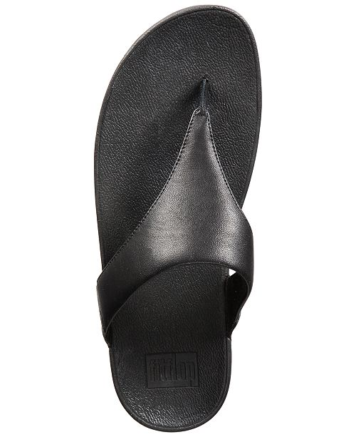 0834cdb8d7ba2 FitFlop Lulu Leather Toepost Flip-Flop Sandals   Reviews - Sandals ...