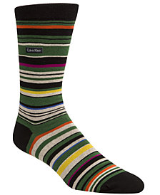 Calvin Klein Men's Striped Crew Socks