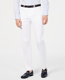 Calvin Klein Men's Slim-Fit Performance Stretch Wrinkle-Resistant Solid Dress Pants