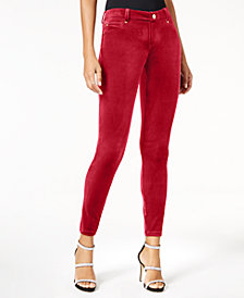 I.N.C. Curvy Velvet Skinny Pants, Created for Macy's