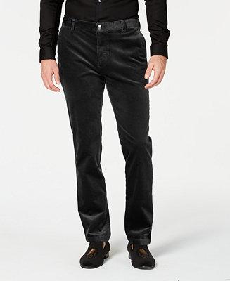 a09b57a5 INC International Concepts I.N.C. Mens Velvet Slim-Fit Pants, Created ...