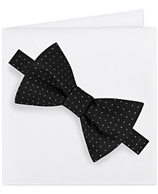 Men's Formal Party Pindot Bow Tie & Pocket Square Set