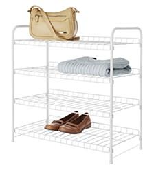 4-Tier White Wire Closet Shelves