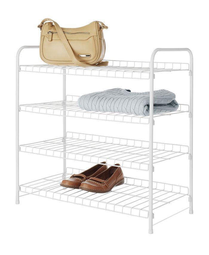 Whitmor - 4-Tier White Wire Closet Shelves