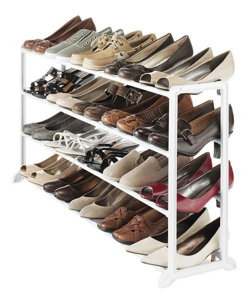 Whitmor 20-Pair Floor Shoe Stand