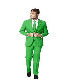 OppoSuits Men's Evergreen Solid Suit