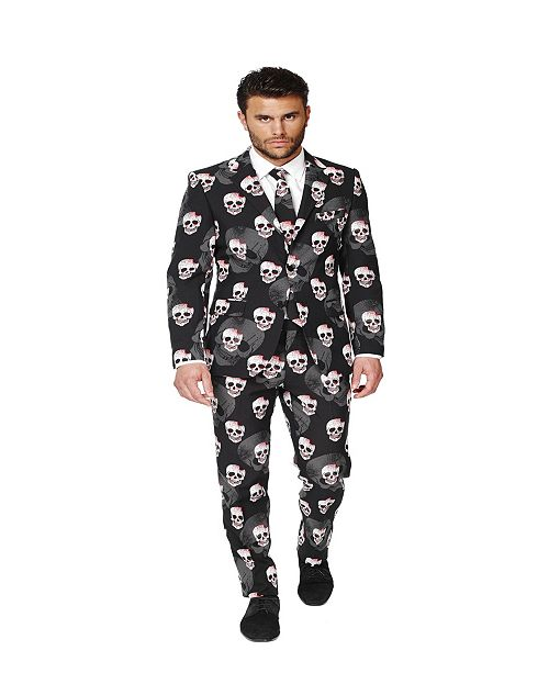 OppoSuits Men's Skulleton Halloween Suit