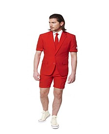 Men's Summer Red Devil Solid Suit
