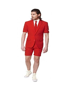 OppoSuits Men's Summer Red Devil Solid Suit
