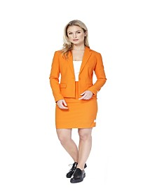 OppoSuits Women's Foxy Orange Solid Suit