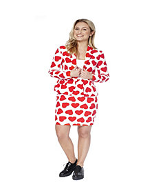 OppoSuits Queen of Hearts Women's Suit