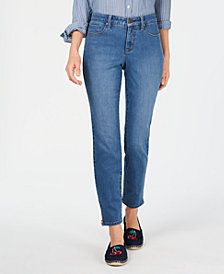 Charter Club Petite Tummy Control Ankle-Length Jeans, Created for Macy's
