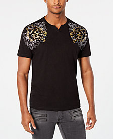 I.N.C. Men's Metallic Wolf T-Shirt, Created for Macy's