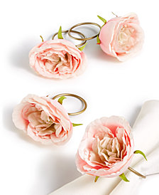 Martha Stewart Collection Spring Floral Napkin Rings, Set of 4, Created for Macy's