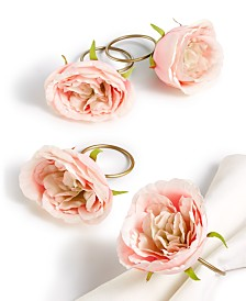 Martha Stewart Collection Royal Blush Napkin Rings, Set of 4, Created for Macy's