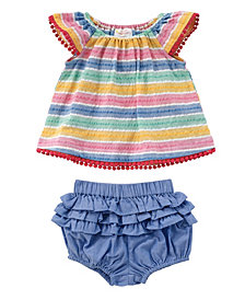 Masala Baby Baby Girl's Flutter Two Piece Set