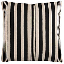"Rizzy Home Black 24"" X 24"" Striped Down Filled Pillow"