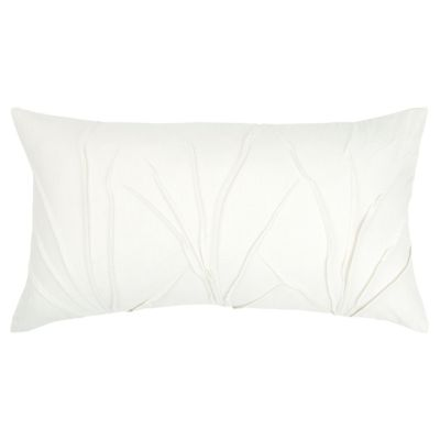 """Solid 14"""" x 26"""" Textured Down Filled Pillow"""