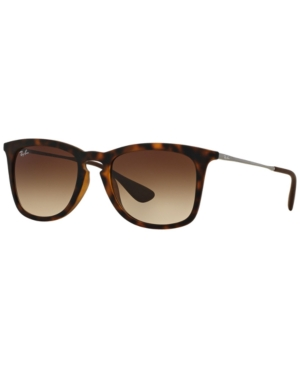 7fec225d1c7 RAY BAN. Ray-Ban Rb4221F 52 Tortoise Square Sunglasses in Rubber Dark  Havana  Gradient Brown