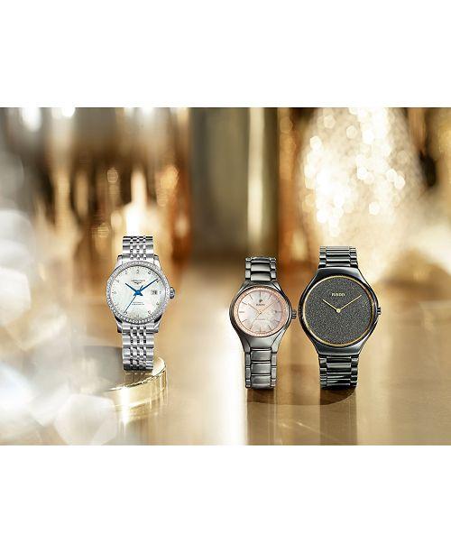9e999cff5 ... Rado Women's Swiss True Thinline Plasma High-Tech Ceramic Bracelet Watch  ...