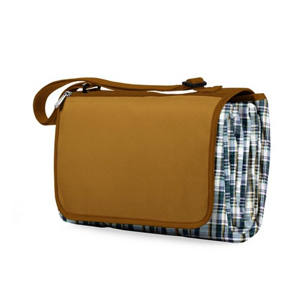 Picnic Time Oniva® by English Plaid & Camel Blanket Tote Outdoor Picnic Blanket