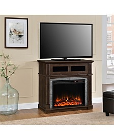 Ameriwood Home Bindy Electric Fireplace Tv Stand For Tvs Up To 37 Inches