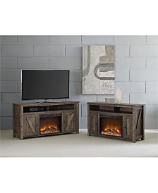 Ameriwood Home Winthrop Electric Fireplace Tv Console For Tvs Up To 50 Inches