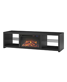 Ameriwood Home Orion TV Stand with Fireplace