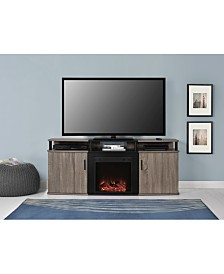 Ameriwood Home Delmar Electric Fireplace Tv Console For Tvs Up To 70 Inches
