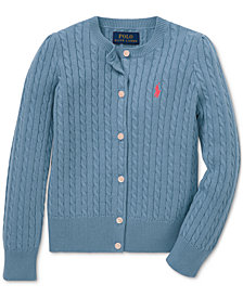 Polo Ralph Lauren Little Girls Cable-Knit Cotton Cardigan