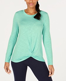Ideology Knot-Front Top, Created for Macy's