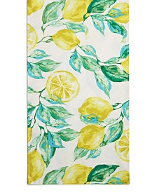 "Bardwil Lemons 70"" Indoor/Outdoor Table Runner"