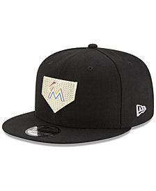 New Era Miami Marlins Gold Badge 9FIFTY Snapback Cap