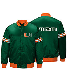 G-III Sports Men's Miami Hurricanes Draft Pick Varsity Satin Jacket