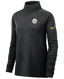 Nike Women's Pittsburgh Steelers Half-Zip Core Element Pullover