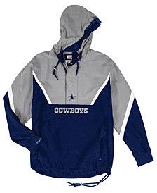 Mitchell & Ness Men's Dallas Cowboys Half-Zip Anorak Jacket