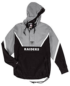 Mitchell & Ness Men's Oakland Raiders Half-Zip Anorak Jacket