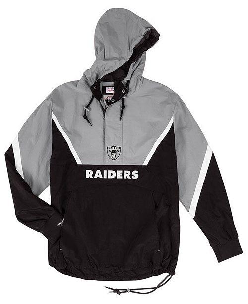 info for eda47 72f7f Mitchell & Ness Men's Oakland Raiders Half-Zip Anorak Jacket ...